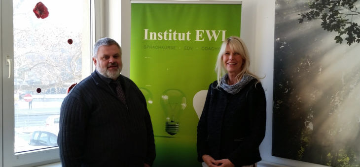 Besuch von Bezirksvorsteher Hora im Institut EWI